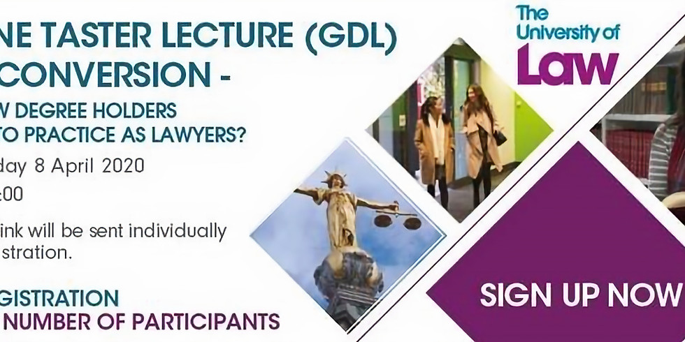 Online Taster Lecture (GDL) - Law Conversion