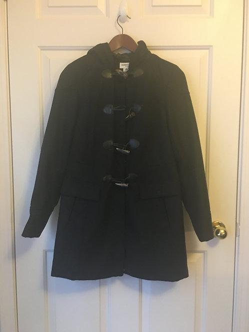 (Celebrity/S:Medium) Black Brown Toggle Raincoat 042