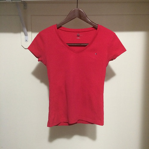 (Tommy Hilfiger/S:Small) Hot Pink T-Shirt 016