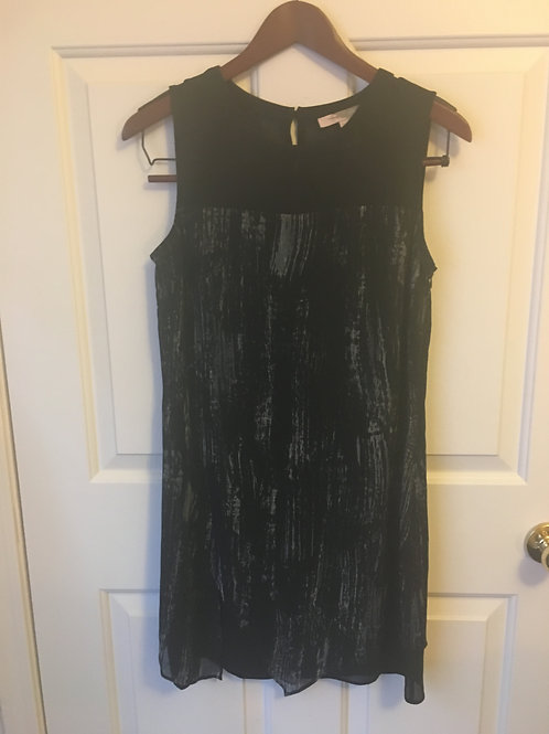 (Forever21/S:Small) Black Paint Streak Pattern Box Dress 041