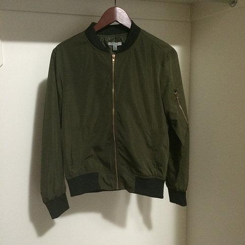 (Casting LA/S:Medium) Green Varsity Style Jacket 029
