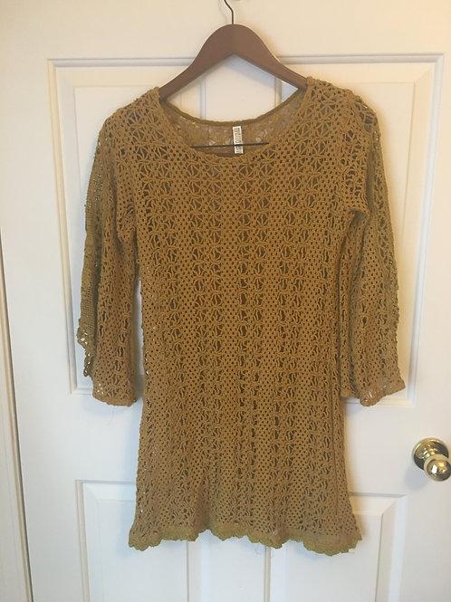 (Marrarerro/S:Medium) Mustard Yellow Knit Long Sleeved Shirt 051