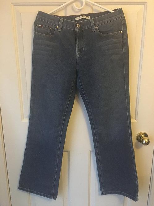 (Tommy Hilfiger/S:Medium/8) Wide Legged Medium Blue Jeans 045