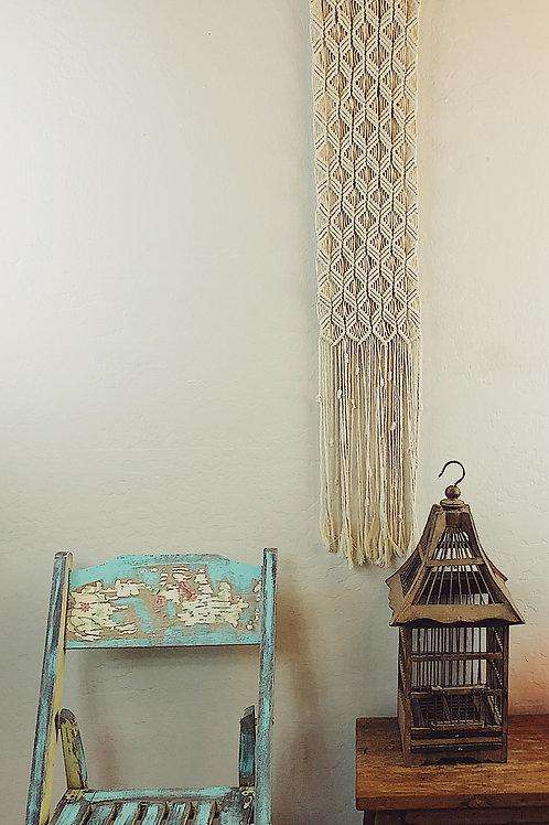 Long Natural Cotton Macrame Wall Hanging