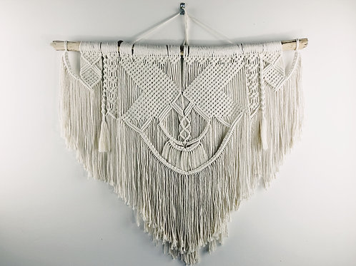 Large, Wide Macrame Wall Hanging, BOHO Wall Art, Bohemian Tapestry, Wall Hanging