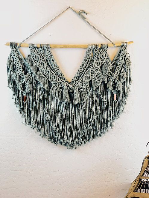 Sage Green Large Macrame Wall Hanging