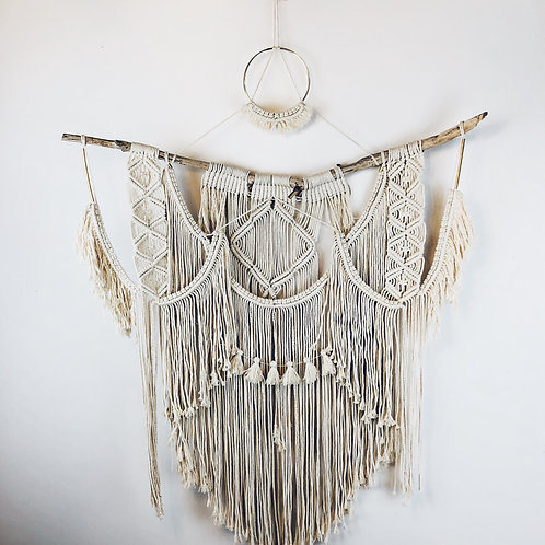 """Learning Curve"" Large Macrame Wall Hanging"