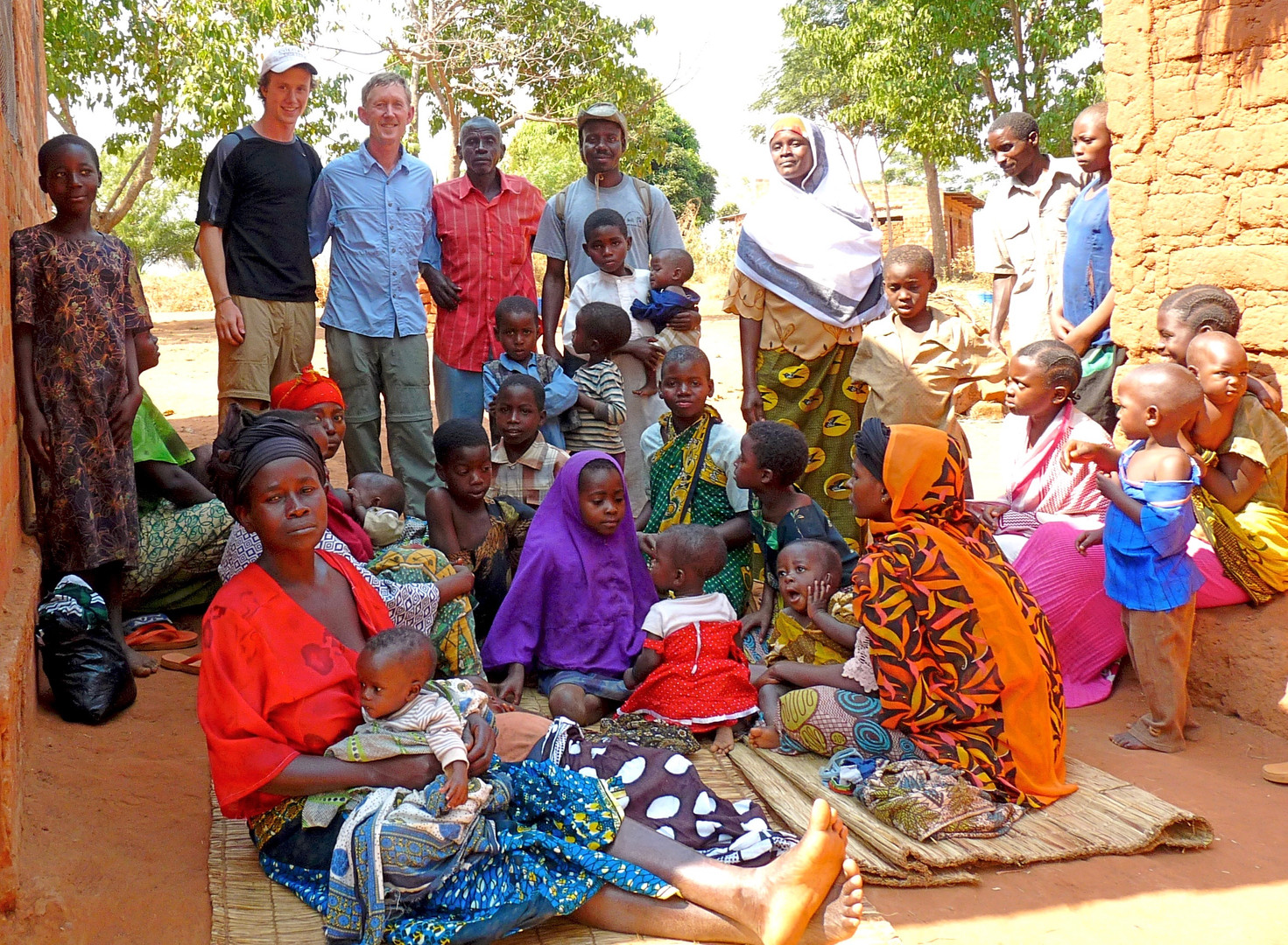 Hamisi with Figan, Tommy, me and extended family in Bubongo Village. Photo by Abdul Ntandu, 2009.
