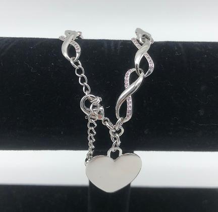 Infinity Bracelet with Heart