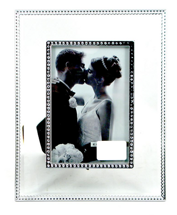 4x6 Glass Frame with Metal Border