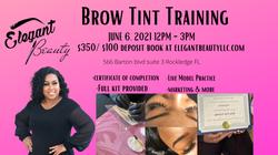June brow tint flyer