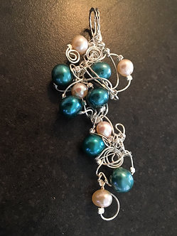 Silver Wire & Freshwater Pearl Pendant