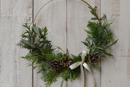 Gold Hoop Wreath ~ $35