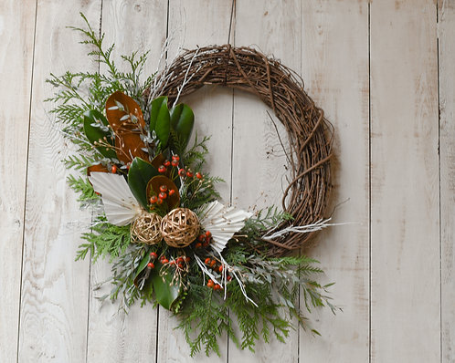 Grapevine Wreath ~ $85