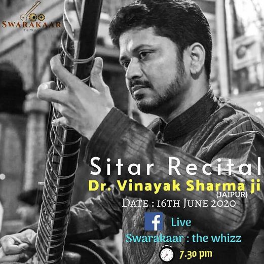 Dr. Vinayak Sharma Live Performance June
