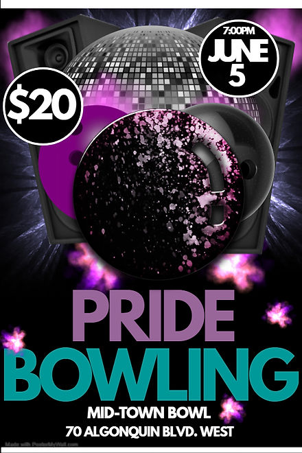 Copy of Bowling party - Made with Poster