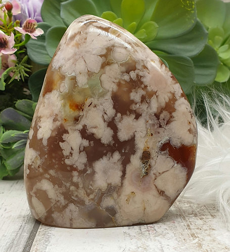 Flower agate freeform