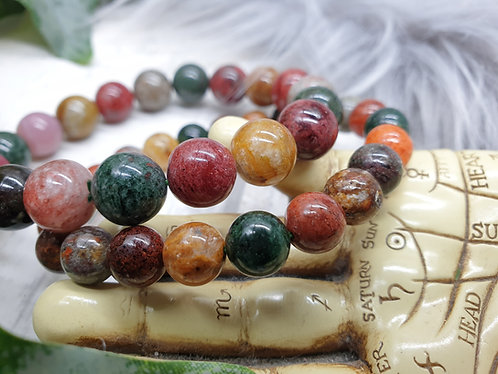 Coloured Shamanic quartz bracelet