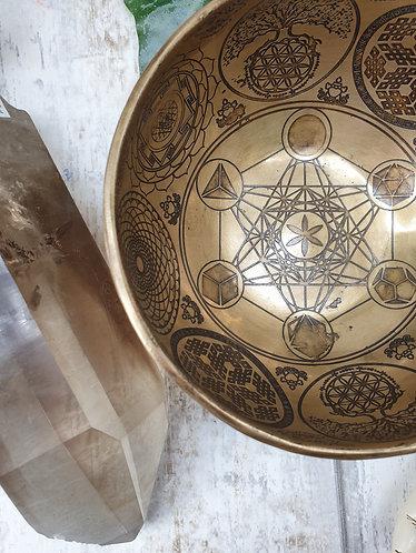 Sacred geometry singing bowl