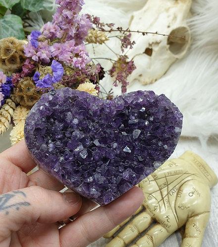 Amethyst Heart carving