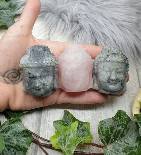 Buddha head carving