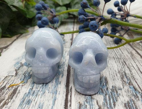 Blue Calcite Skull