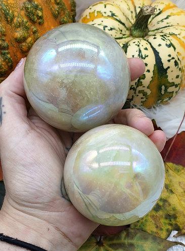 Aura citrine sphere