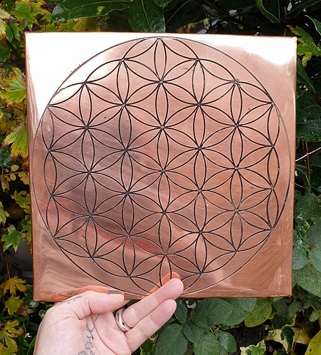 Flower of life Copper grid