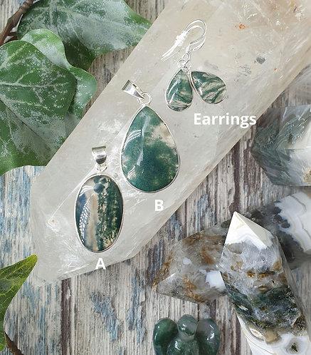 Moss Agate Jewellery