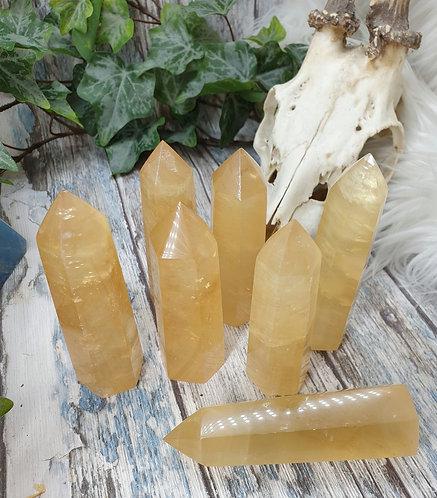 Honey Calcite point