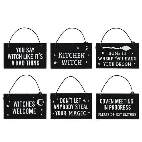 Mini witch signs