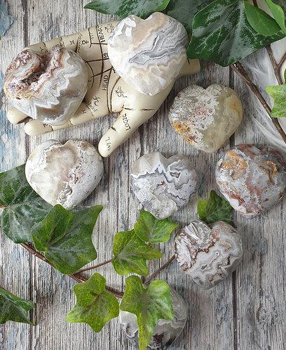 Mexican Agate Heart