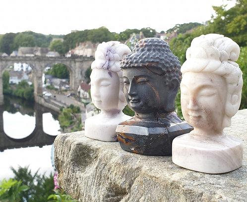 Buddha & Kwan yin Carving