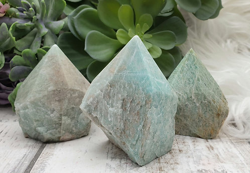Part polished Amazonite