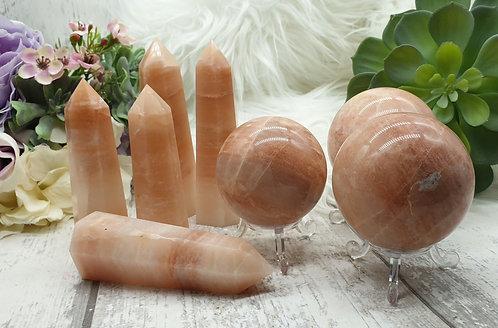 Peach calcite