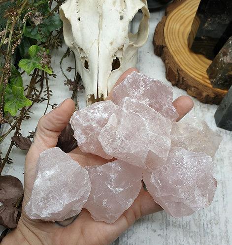 Rose quartz raw