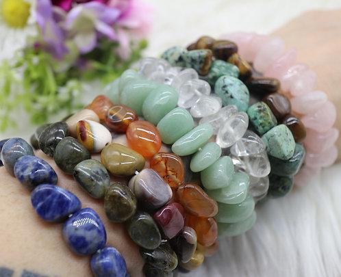 Gemstone nugget bracelet