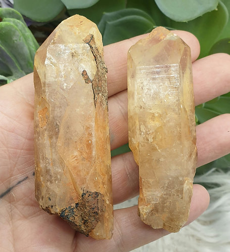 Natural citrine point