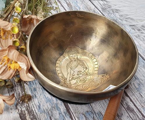 Medicine Buddha singing bowl 12cm