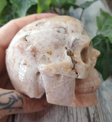Pink Amethyst Skull