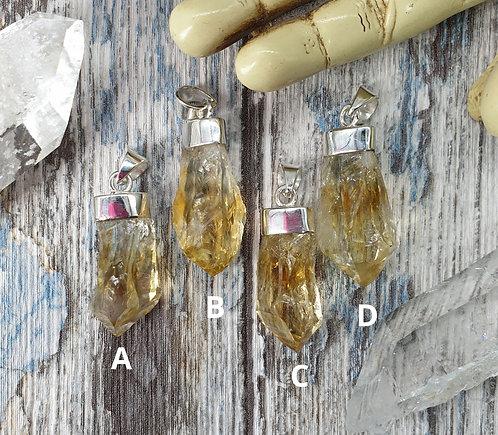 Citrine (Treated Amethyst) pendant