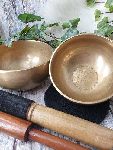 Ohm engraved Singing bowl