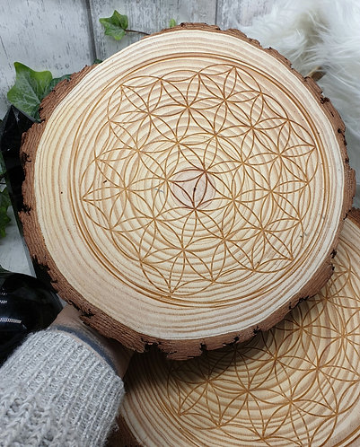 Flower of life Grid wooden