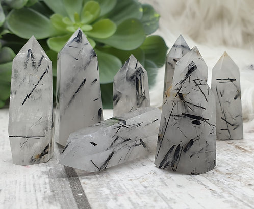 Tourmaline quartz points
