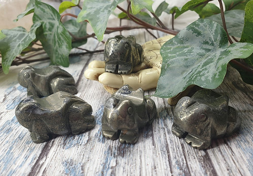 Pyrite Healers Gold Frog