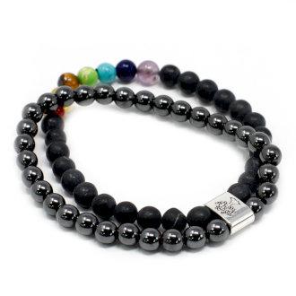 Magnetic Hematite chakra bracelet