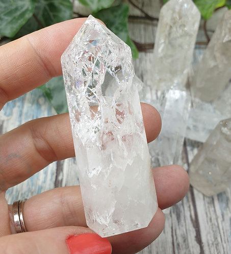 Fire and ice quartz