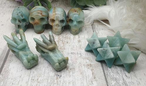 Caribbean calcite carving