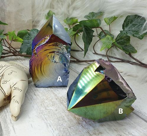 Titanium Aura Obsidian