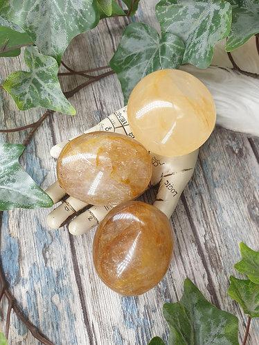 Golden healer palmstone
